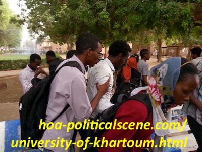 Khartoum University students rejects destructing the university and selling the sight.