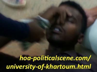 Khartoum University student fell down.