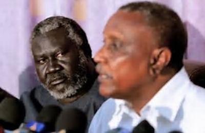 ياسر عرمان ومالك عقار السودان الحركة الشعبية لتحرير السودان قطاع الشمال