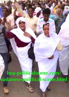 hoa-politicalscene.com/invitation-to-comment60.html - Invitation to Comment 60: Sudanese women in their national dress leading the resistance movement in Khartoum.