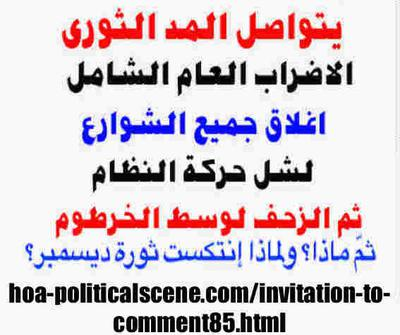 Invitation to Comment 85: Sudanese December 2018 Protests 178.