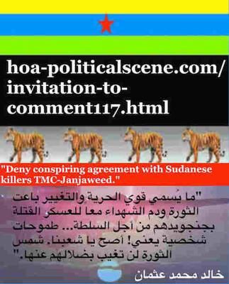 Invitation to Comment 117: Deny conspiring agreement with Sudanese killers TMC-Janjaweed.