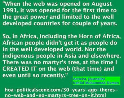 30 Years Ago There was No Web & No Martyr's Tree on it. That was at the time I CREATED IT... and there was no martyr's tree even until recently. FACEBOOK IS A THIEF.
