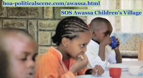 hoa-politicalscene.com/awassa.html - Awassa SOS Children's Village in south Ethiopia, children at mealtime