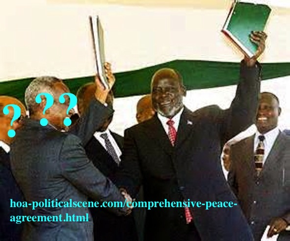 Comprehensive Peace Agreement in Sudan.