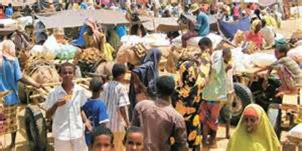 DAFI: Crowds of the Somali Refugees in One of the Dadaab Camps in Kenya.