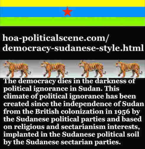 hoa-politicalscene.com/democracy-sudanese-style.html - Democracy Sudanese Style: A political quote by Sudanese journalist, columnist and political analyst Khalid Mohammed Osman in English 2.