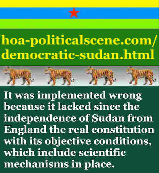 hoa-politicalscene.com/democratic-sudan.html - Democratic Sudan: A political quote by Sudanese columnist journalist and political analyst Khalid Mohammed Osman in English 3.
