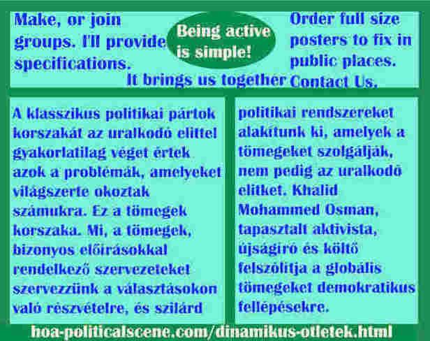 hoa-politicalscene.com/dinamikus-otletek.html - Dinamikus Ötletek: A klasszikus politikai pártok korszakát az uralkodó elittel gyakorlatilag véget értek azok a problémák, amelyeket világszerte...