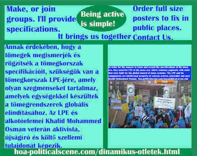 hoa-politicalscene.com/dinamikus-otletek.html - Dinamikus Ötletek: Annak érdekében, hogy a tömegek megismerjék és rögzítsék a tömegkorszak specifikációit, szükségük van a tömegkorszak LPE-jére...