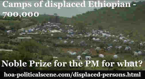 hoa-politicalscene.com/displaced-persons.html - Displaced Persons: Camps of displaced Ethiopian - 700,000. Noble Prize for the PM Abiy Ahmed Ali for what?