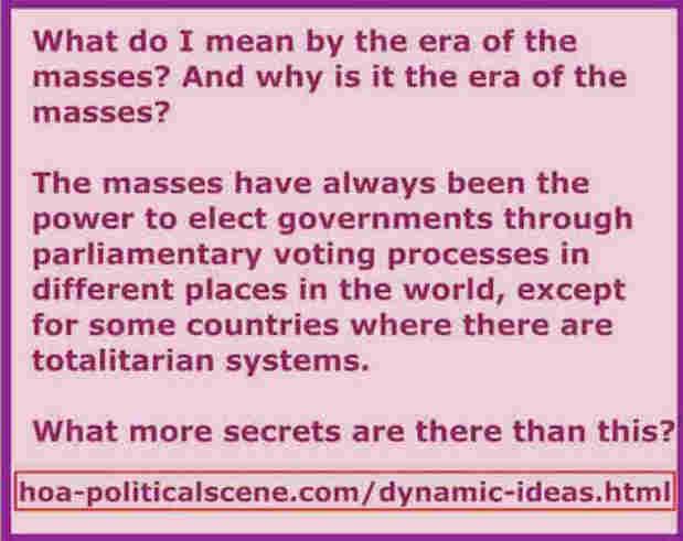 hoa-politicalscene.com/dynamic-ideas.html - Dynamic Ideas: Classic political parties' era is over. Time is for masses' era, says veteran activist, journalist, poet & visionary Khalid Mohammed Osman.