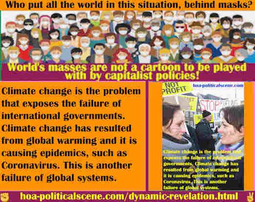 hoa-politicalscene.com/dynamic-revelation.html - Dynamic Revelation: Climate change is problem exposes failure of international governments. Climate change is causing epidemics.