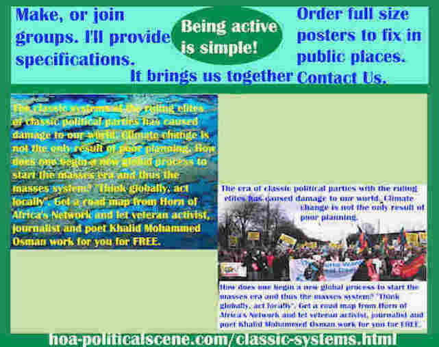 hoa-politicalscene.com/classic-systems.html - Classic Systems: of classic political parties ruling elites damage our world. Climate change isn't the only result of poor planning.