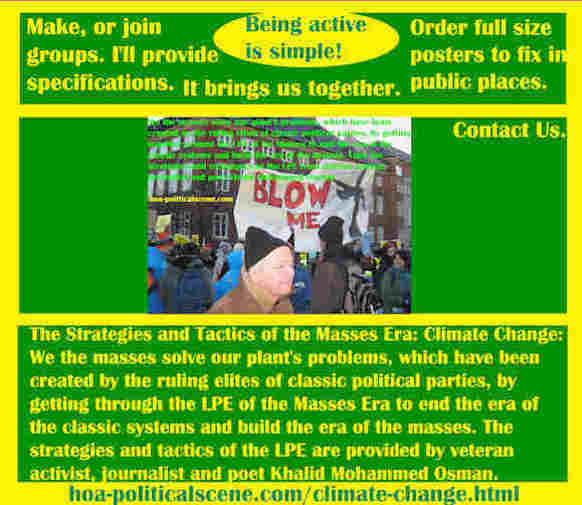 hoa-politicalscene.com/climate-change.html - The Strategies and Tactics of the Masses Era: Climate Change: We masses solve our plant's problems by getting through the LPE of the Masses Era.