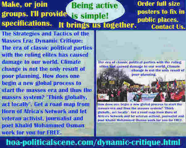 hoa-politicalscene.com/dynamic-critique.html - Strategies & Tactics of Masses Era: Dynamic Critique: Classic political parties' ruling elites damage world. Climate change only results of bad planning.