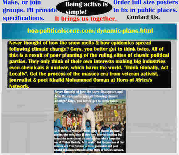 hoa-politicalscene.com/dynamic-plans.html - Strategies & Tactics of Masses Era: Dynamic Plans: Never thought of how the snow melts & how epidemics spread following climate change?