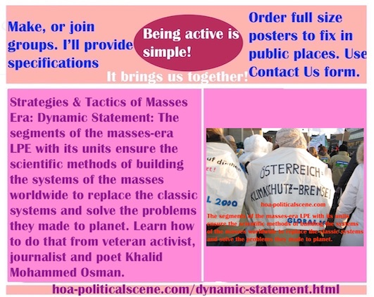 hoa-politicalscene.com/dynamic-statement.html - The Strategies and Tactics of the Masses Era: Dynamic Statement: Segments & units of masses era LPE ensure scientific methods of building mass systems.