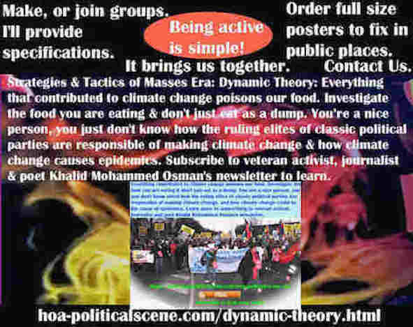 hoa-politicalscene.com/dynamic-theory.html - Strategies & Tactics of Masses Era: Dynamic Theory: Everything that contributed to climate change poisons our food. Investigate the food you are eating.