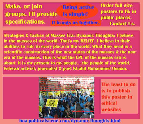 hoa-politicalscene.com/dynamic-thoughts.html - The Strategies and Tactics of the Masses Era: Dynamic Thoughts: I believe in the world's masses.  I believe in their abilities to rule the world.