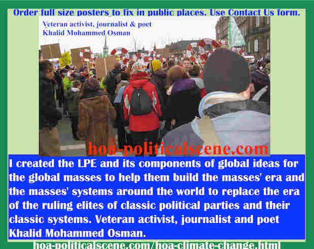 hoa-politicalscene.com/hoa-climate-change.html - HOA Climate Change: I created the LPE and its components of global ideas for the global masses to help them build the masses' era.