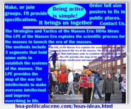 hoa-politicalscene.com/hoas-ideas.html - The Strategies and Tactics of the Masses Era: HOAs Ideas: Masses Era LPE 3 segments has systematical units to establish the systems of the masses.
