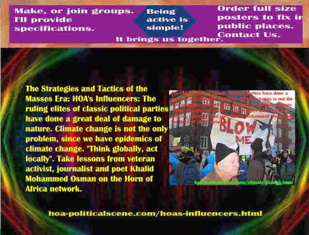 hoa-politicalscene.com/hoas-influencers.html - Strategies & Tactics of Masses Era: HOA's Influencers: Classic systems of classic political parties ruling elites do a great deal of damage to nature.