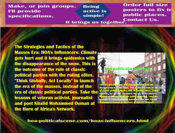 hoa-politicalscene.com/hoas-influencers.html - Strategies & Tactics of Masses Era: HOA's Influencers: Climate gets hurt and it brings epidemics with the disappearance of the snow.