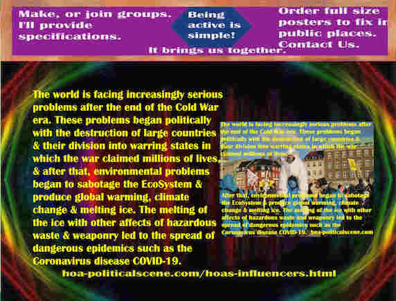 hoa-politicalscene.com/hoas-influencers.html - Strategies & Tactics of Masses Era: HOA's Influencers: The world is facing increasingly serious problems after the end of the Cold War era.