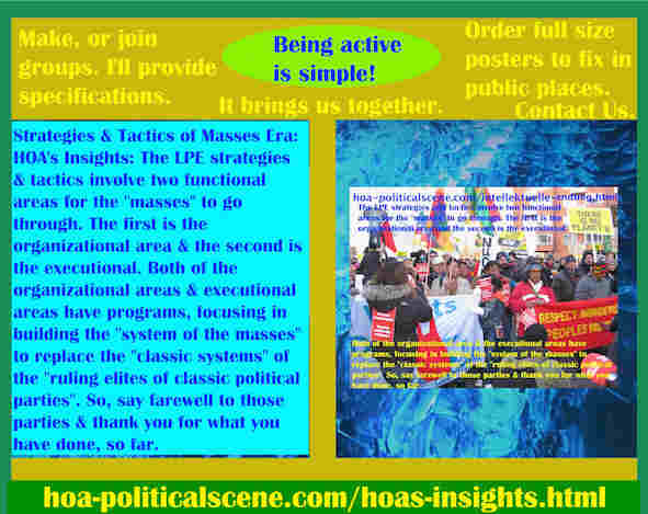 hoa-politicalscene.com/hoas-insights.html - Strategies & Tactics of Masses Era: HOA's Insights: LPE strategies and tactics involve two functional areas for the