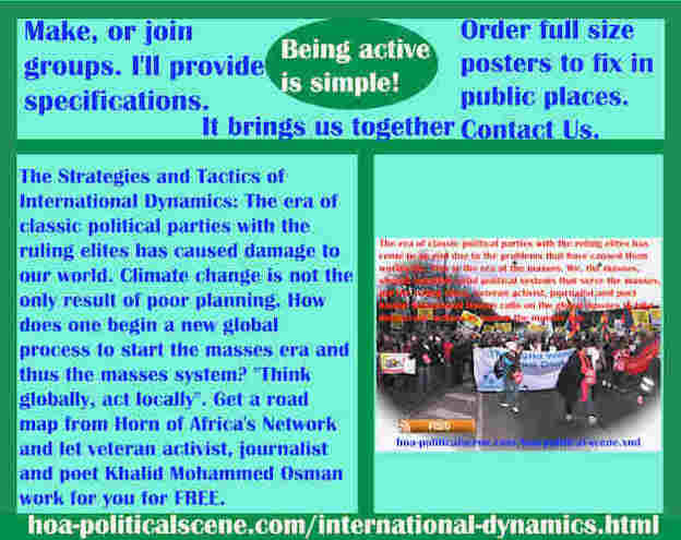 hoa-politicalscene.com/international-dynamics.html - Strategies & Tactics of International Dynamics: RE of classic parties ruin our world. Climate change isn't the only result of poor planning.