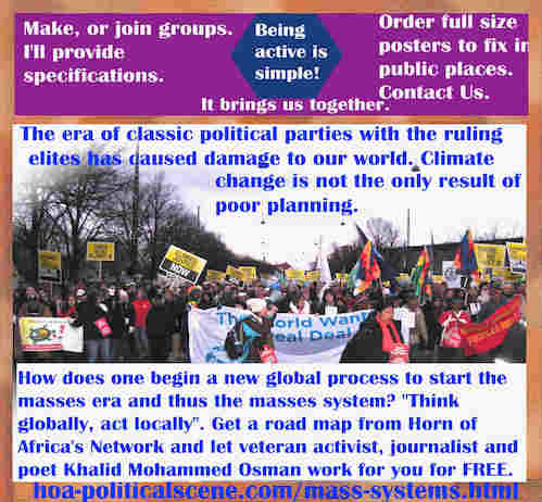 hoa-politicalscene.com/mass-systems.html - Strategies & Tactics of Mass Systems: Era of classic political parties ruling elites damage our world. Climate change isn't the only result of poor planning.