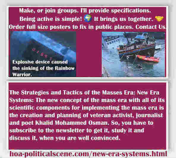 hoa-politicalscene.com/new-era-systems.html - Strategies & Tactics of Masses Era: New Era Systems: Mass era new concept & components to implement mass era, created by activist Khalid Mohammed Osman. ®