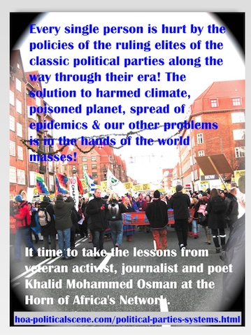 hoa-politicalscene.com/political-parties-systems.html - Political Parties Systems: Every single person is hurt by policies of the ruling elites of the classic political parties. How to resolve this?