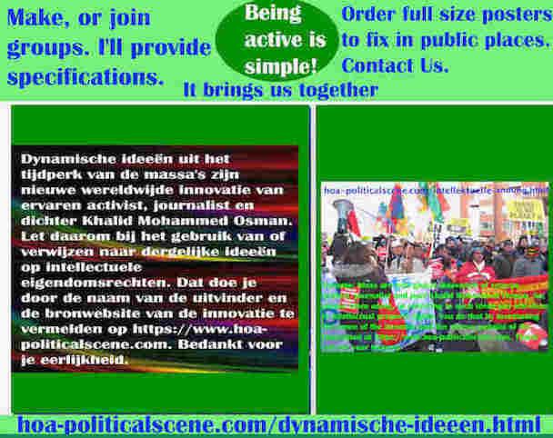 hoa-politicalscene.com/dynamische-ideeen.html: Dynamische ideeën uit het tijdperk van de massa's zijn nieuwe wereldwijde innovatie van ervaren activist, journalist en dichter Khalid Mohammed Osman.