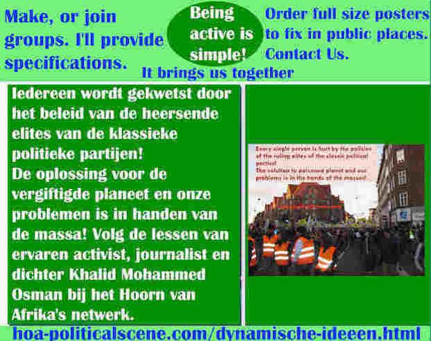 hoa-politicalscene.com/dynamische-ideeen.html - Dynamische ideeën: Iedereen wordt gekwetst door het beleid van de heersende elites van de klassieke politieke partijen!