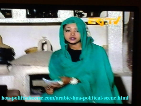 Arabic HOA Political Scene: Eritrean Customs in Arabic and Tigrinya Programs in the Eri TV.