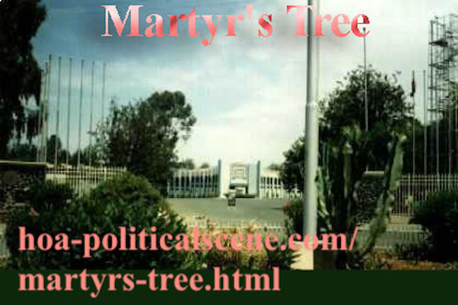 Eritrean Martyr's Tree at the Asmara Expo Gate done in one of the environmental activities of veteran activist and journalist Khalid Mohammed Osman.