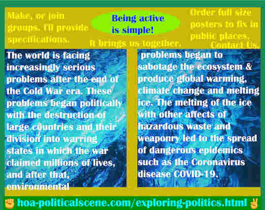 hoa-politicalscene.com/exploring-politics.html - Exploring Politics: World is facing increasingly serious problems after the Cold War era. They began politically by destructing large countries.