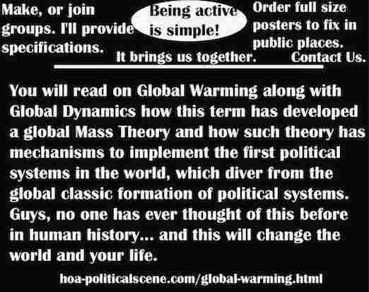 hoa-politicalscene.com/global-warming.html - Global Warming: has developed a global Mass Theory and how such theory has mechanisms to implement the first political systems in the world.