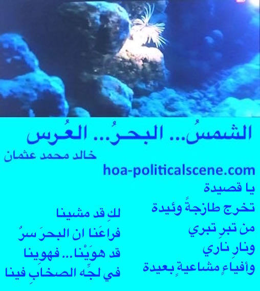 The Sun, the Sea, the Wedding by poet & journalist Khalid Mohammed Osman designed on beautiful image