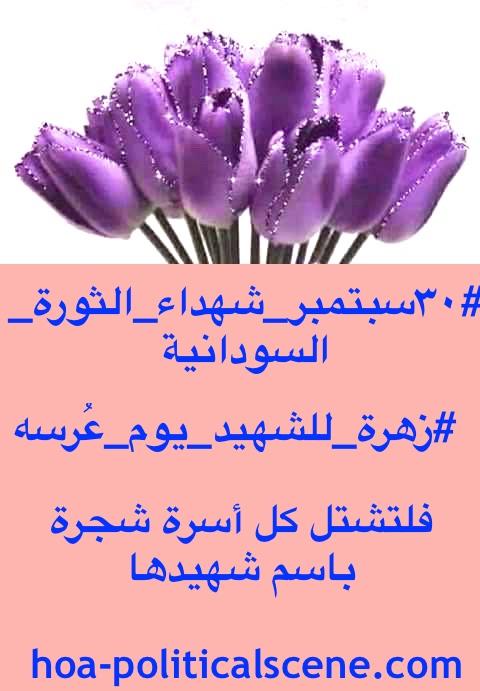 hoa-politicalscene.com/sudanese-martyrs-tree-posters.html - Sudanese Martyr's Tree Posters: to gift martyrs flowers in their wedding day, idea by Sudanese journalist Khalid Mohammed Osman.