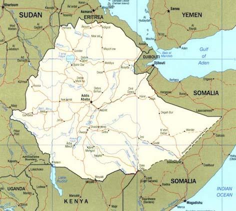hoa-politicalscene.com/ethiopian-political-scene.html - Ethiopian Political Scene - Ethiopian map.