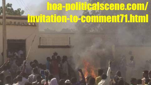 hoa-politicalscene.com/invitation-to-comment71.html: Invitation to Comment 71: إنتفاضة الشعب السوداني في ديسمبر 2018م في السودان Sudanese people's demonstrations in December 2018