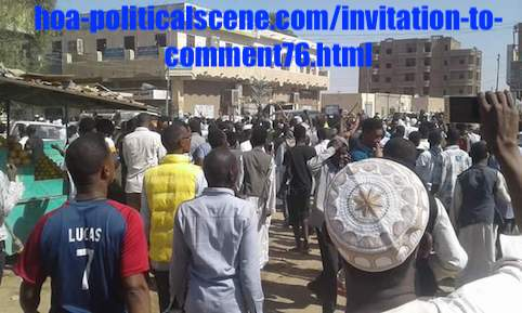 hoa-politicalscene.com/invitation-to-comment76.html: Invitation to Comment 76: Political statements on December 2018 intifada in Sudan بيانات سودانية سياسية شعبية في اطار مظاهرات ديسمبر 2018م