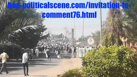 hoa-politicalscene.com/invitation-to-comment76.html: Invitation to Comment 76: Political statements on December 2018 protests in Sudan بيانات سودانية سياسية شعبية في اطار إحتجاجات ديسمبر 2018م