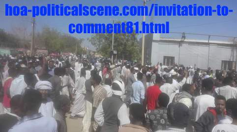 hoa-politicalscene.com/invitation-to-comment81.html: Invitation to Comment 81: Political statements on December 2018 revolution in Sudan عارف بيحصل شنو، إذا ما نجحت مظاهرات ديسمبر ٢٠١٨م في السودان؟