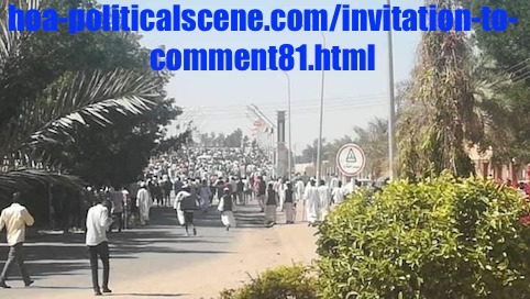 hoa-politicalscene.com/invitation-to-comment81.html: Invitation to Comment 81: Political statements on December 2018 uprising in Sudan عارف بيحصل شنو، إذا ما نجحت مظاهرات ديسمبر ٢٠١٨م في السودان؟