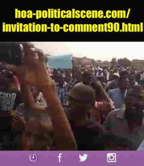 hoa-politicalscene.com/invitation-to-comment90.html: Invitation to Comment 90: تنسيقية تيار الثورة السودانية القومية (معارضة) في خدمة السلطة. Sudanese uprising in January 2019.