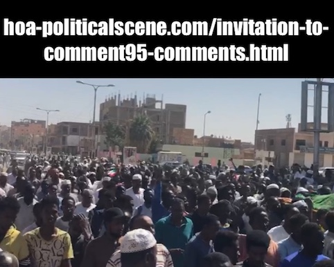 hoa-politicalscene.com/invitation-to-comment95-comments.html: Invitation to Comment 95 Comments: The signatory powers of the Declaration of Freedom and change. القوى الموقعة على إعلان الحرية والتغيير. Sudanese Intifada in January 2019.